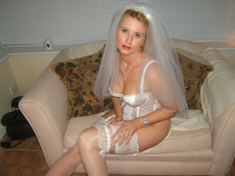 Bride slut lingerie, black slut white dude